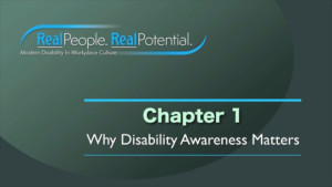 "Title page of Chapter One, ""Why disability Awareness Matters"""