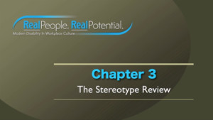 "Title Frame of Chapter Three, ""The Stereotype Review."""