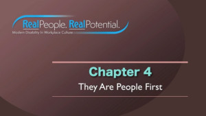 "Title Frame of Chapter Four, ""They Are People First."""