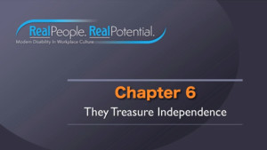 "Title Frame of Chapter Six, ""They Treasure Independence."""