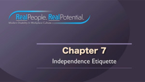 "Title Frame of Chapter Seven, ""Independence Etiquette."""