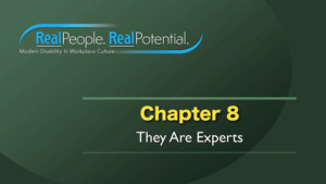 "Title Frame of Chapter Eight, ""They Are Experts."""