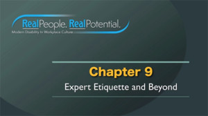 "Title Frame of Chapter Nine, ""Expert Etiquette and Beyond."""
